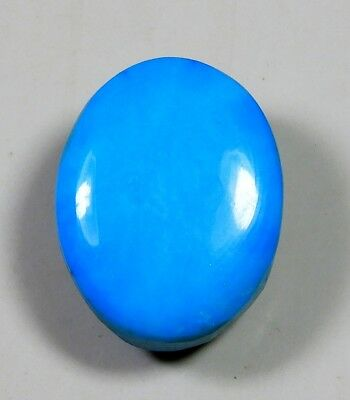 19 Ct Natural Ring Size Sleeping Beauty Sky Turquoise Oval Cabochon Gemstone A71