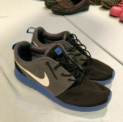 b1e4d7068960 Nike Roshe Run Black Blue Gray CUSTOM Men s Running Shoes Size 10.5 - Good  Condi