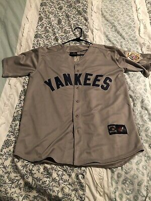 f417db3a5 Mickey Mantle Majestic Cooperstown Collection Yankees Jersey Size L Gray  Large