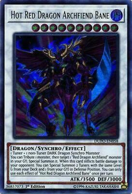 ( HOT RED DRAGON ARCHFIEND BANE ) - Ultra - DUPO-EN058 - 1st - NM - Yu-Gi-Oh