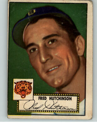 1952 Topps #126 Fred Hutchinson Tigers Vg 359745 (Kycards)
