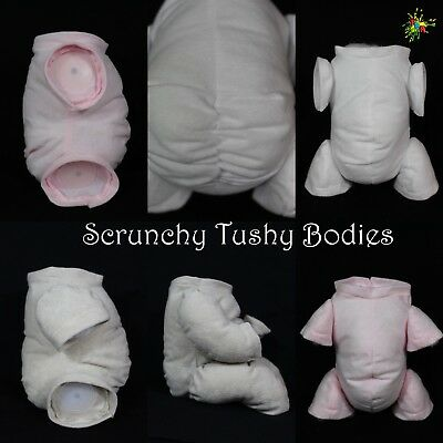 """Non-Fray """"doe Suede""""  **scrunchy Tushy Bodies** Various Colours, Limbs & Sizes"""