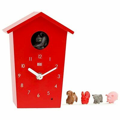 KOOKOO | Kids Wall Clock | Animal House Red