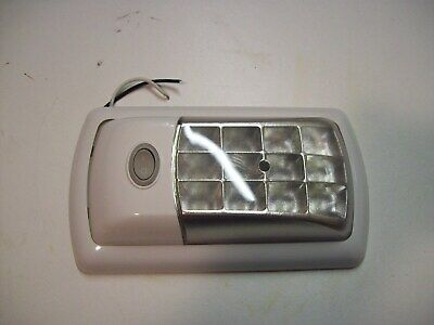 LED Interior Light 12 Volt Trailer /Truck pre wired, Flat base 12 LEDs FREE P&P