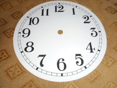 "Round Paper Clock Dial- 6 1/4"" M/T - Arabic-GLOSS WHITE -Face/ Parts/Spares #"