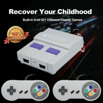 Super Nintendo Mini Classic 8-Bit HDMI 1080P 821 Games USPS Priority 3 Day Ship