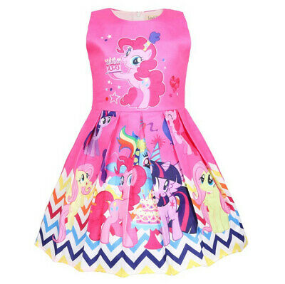 Lovely Girls My Little Pony Dress Summer Party Pageant Birthday Princess Dress