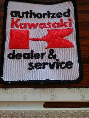 nos kawasaki vintage patch 1970s 1980s dealer and service rare obsolete dirtbike