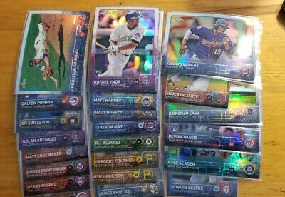 2015 Topps Chrome Refractors Fill your set you pick choice 3.33 flat shipping