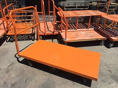 Platform Flat Carts 500lb Capacity 6 Wheels
