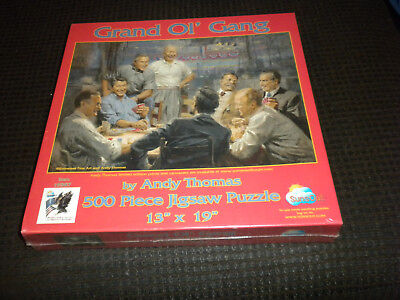 """Grand Ol"""" Gang Republicans Political Art Puzzle Andy Thomas 500 pieces Sealed"""