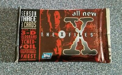 Vintage 1996 Topps X Files Season 3 Trading Sealed Card Pack