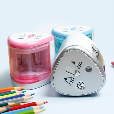 Electronic Battery Use 6-8mm Two Holes Electric Pencil Sharpener Student
