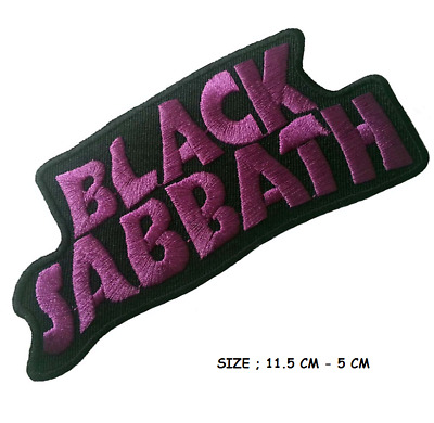 Black Sabbath Music Band Cross logo Embroidered Iron Sew On Patch