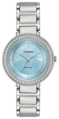 Brand New Citizen  ECO-DRIVE SILHOUETTE CRYSTAL EM0480-52N