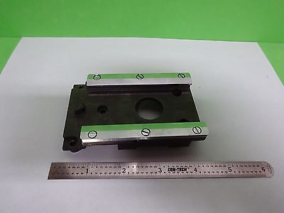 MICROSCOPE PART LEITZ GERMANY ORTHOLUX II RAIL for NOSEPIECE AS IS BIN#Y4-06