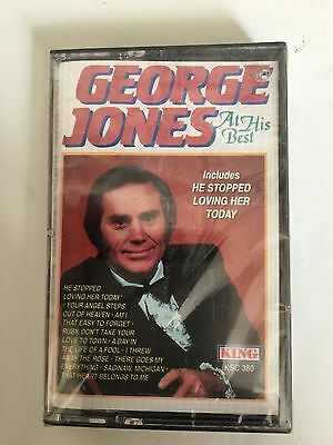 George Jones At His Best Cassette New Factory Sealed