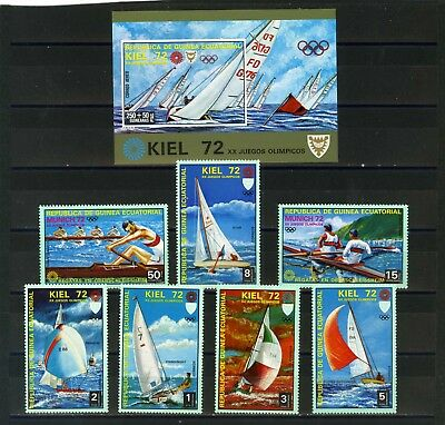 Equatorial Guinea 1972 Water Sports/Summer Olympic Games 7 Stamps & S/S Mnh