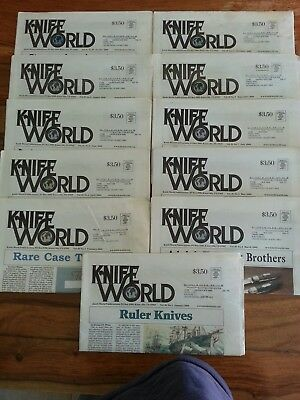 11 Knife World Magazine-Newspaper January-November 2009 Excellent Used Condition