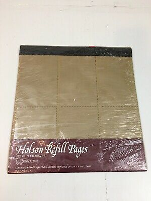 Holson Photo Album Refill Pages R-46FVT-4 Fits FVT46 Holds 48 4x6 Photos