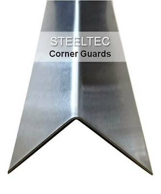 """(4) Pack Stainless Steel Corner Guard Angles 2"""" x 2"""" x 48"""" - Wall Protection"""