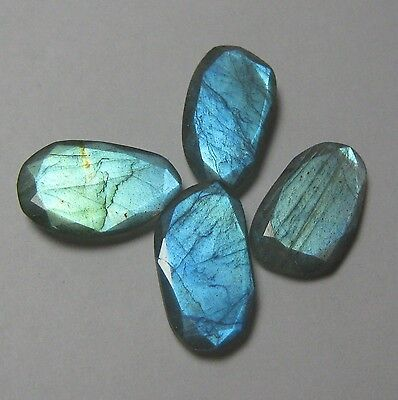 29.50 Cts Natural Labradorite Faceted 4 Piece Lot Fancy Loose Gemstone B 5950