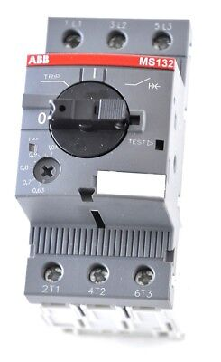 ABB MS132-1.0 Manual Motor Starter .63 to 1.0 Amp 1 or 3  Phase Overload/Short