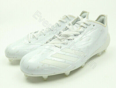 official photos dce49 4f5b6 New Adidas Adizero 5 STAR Mens Kevlar White Molded Football Cleats Size 12