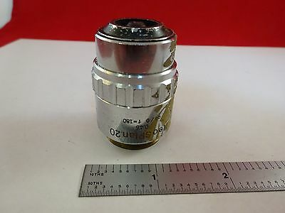 For Parts Microscope Objective Olympus Neo Plan 20X Optics As Is Bin#L3-E-29