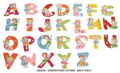Wooden Fairy Alphabet Letters Girls Personalised Name Gift Decor Easter Gift