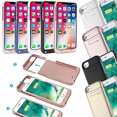 Battery Case Rechargeable Charger Portable Charging Cover For iPhone X 8 7 6Plus