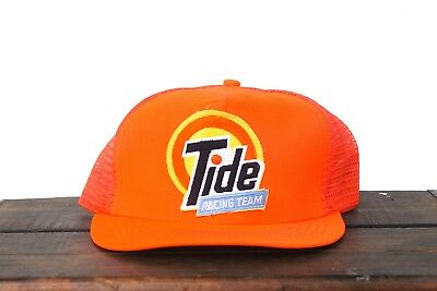Vintage Tide Racing Team Nascar Made In USA Snapback Trucker Hat Baseball Cap