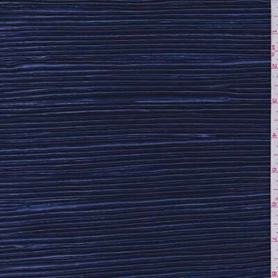 Sapphire Pleated Charmeuse, Fabric By The Yard