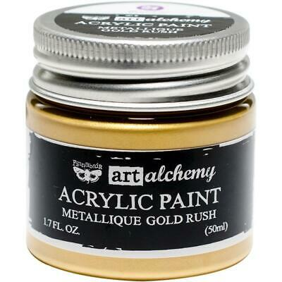 Finnabair Art Alchemy Acrylic Paint - Metallique Gold Rush - 50ml Jar