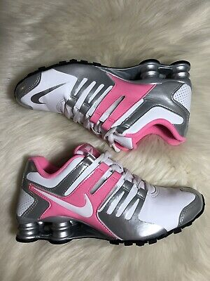 big sale e1835 dd132 Nike Shox Current Women s Size 7.5 White Pink Silver Running Sneakers