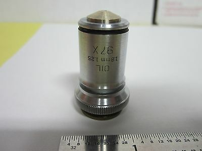 Microscope Vintage Part Optical Objective Bausch Lomb 97X Optics As Is Sk#E2-15