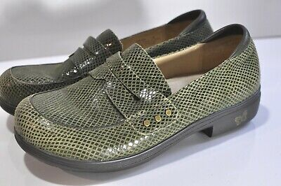 801ba8b11a55 WOMENS ALEGRIA BY Pg Lite Floral Embossed Leather Shoes Size 41 ...