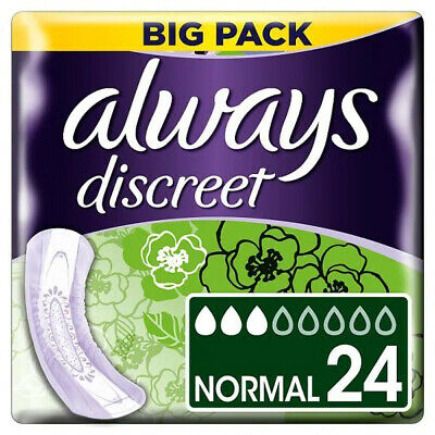 Always Discreet Normal non-winged Value Pad 24PK