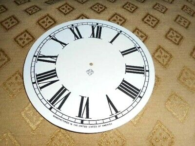 For American Clocks-Ansonia Paper Clock Dial-119mm M/T-For Clock with Metal Ring