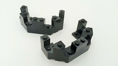 22x Black Lego 1 x 3 Smooth Sloped Bricks BR394 Used condition