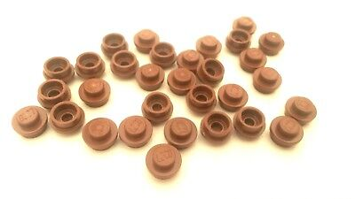 A294 30x Lego Reddish Brown 1 x 1 Round Studs Used condition