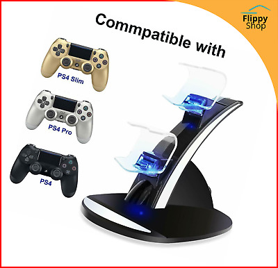 Docking Station Accueil Manette PS4 Chargeur Rapide Support Double USB LED Play