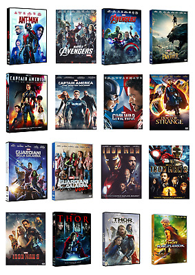 Marvel Collection - 16 Film (16 Dvd) Cofanetti Singoli, Nuovi, Italiani