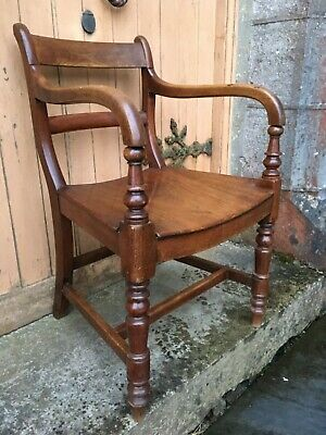 George III Mahogany Library Desk Chair 18th Century Georgian Dining Armchair