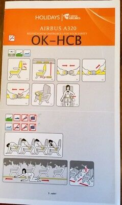 Safety Card Holidays-Csaczech Airlines Airbus A320