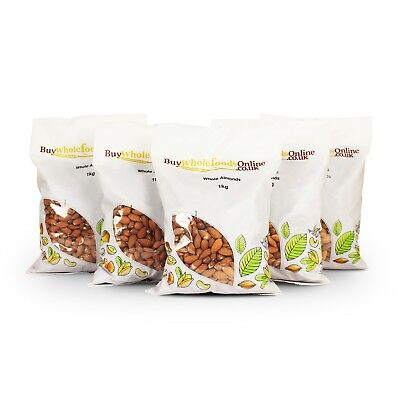 Almonds 5kg (Whole Almonds) | Keto | Bulk | Buy Whole Foods Online | Free UK P&P