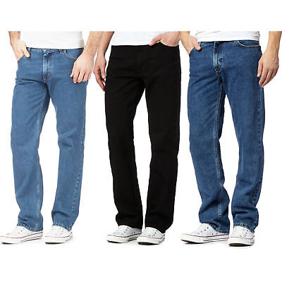 Mens Gents Denim Jeans Fited Straight Leg Boys Casual Denim Jeans Stylish pants