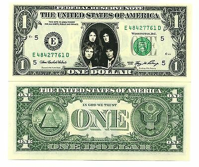 QUEEN - VRAI BILLET DOLLAR US! Collection FREDDIE MERCURY BRIAN MAY Freddy group