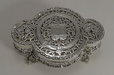 Finest Quality Antique English Sterling Silver Pot Pourri Table Box