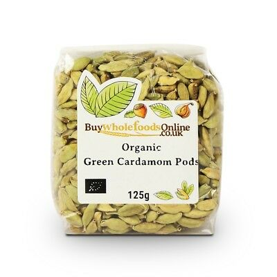 Organic Cardamom Pods Green 125g | Buy Whole Foods Online | Free UK P&P